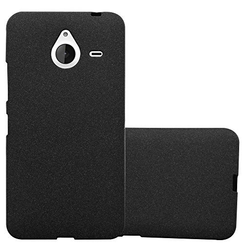 Cadorabo Case Works with Nokia Lumia 640 XL in Frost Black - Shockproof and Scratch Resistant TPU Silicone Cover - Ultra Slim Protective Gel Shell Bumper Back Skin