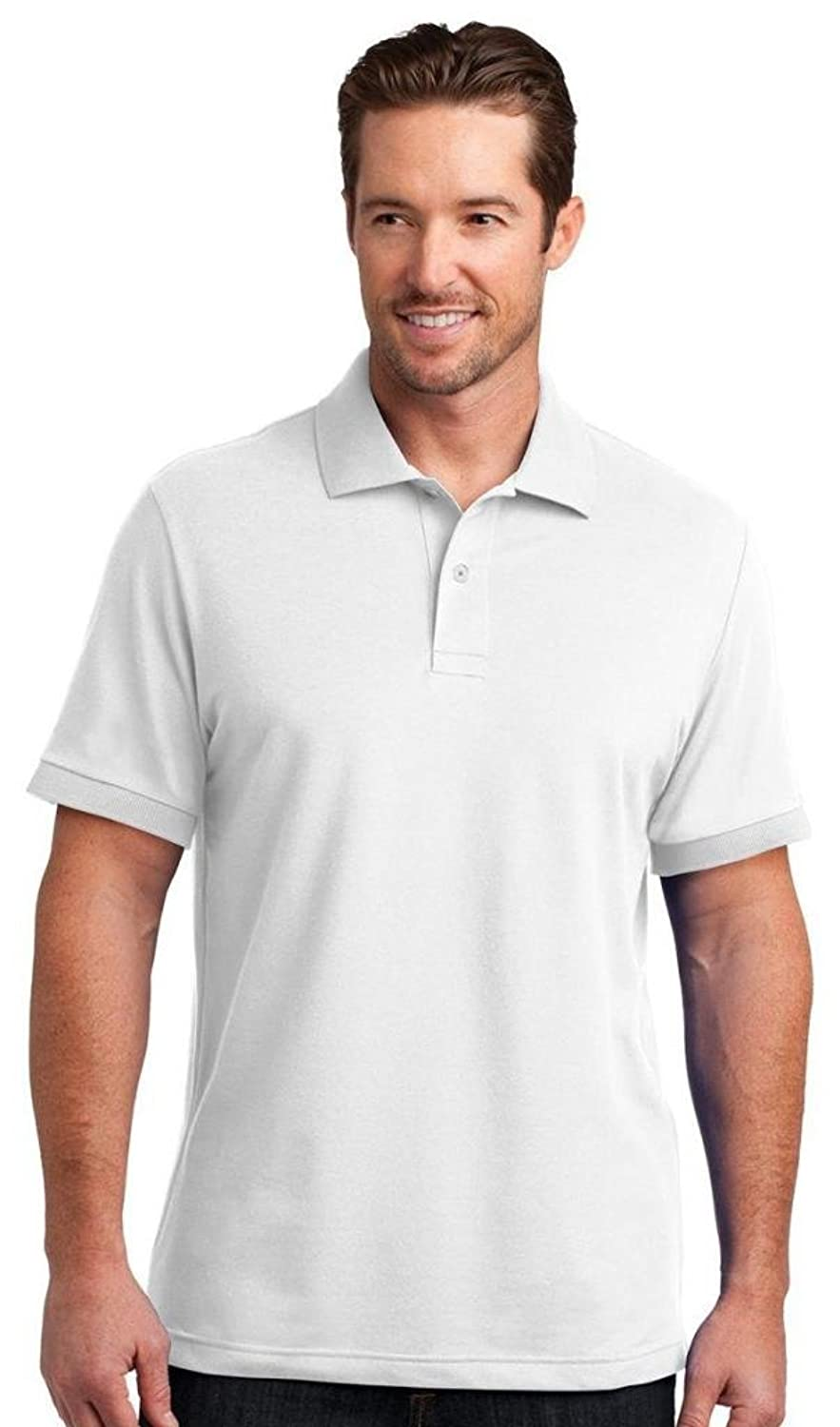 UltraClub Men's Cool - Dry Short Sleeve Pebble Knit Polo Shirt