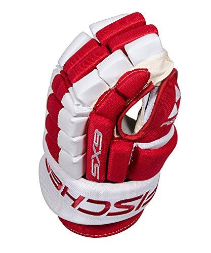 Fischer Hockey SX9 Pro Gloves, Red/White, 14-Inch - Red Ice Hockey Gloves
