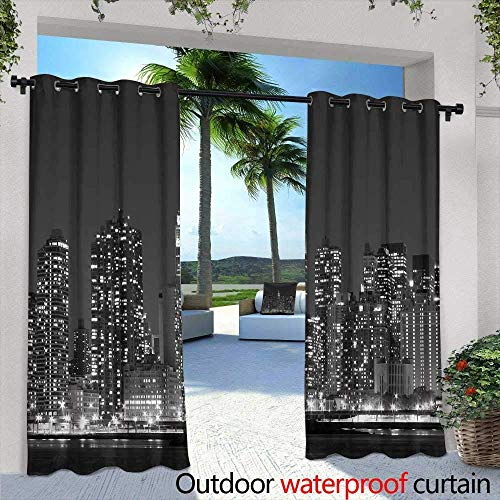 TRTK Balcony Curtains,Mega Gorgeous Seamless Patchwork Pattern from Colorful Moroccan Portuguese Tiles Ornaments Can be Used for Wallpaper Pattern Fills Web Page Background Surface Textures W96 x L96
