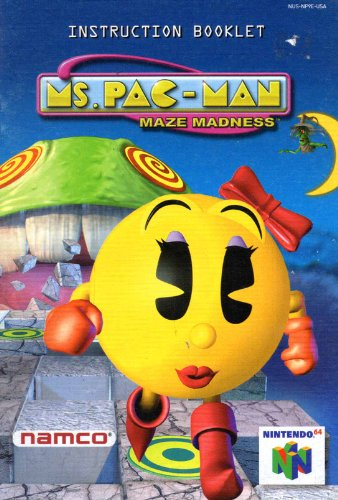 Ms Pac-Man Maze Madness N64 Instruction Booklet (Nintendo 64 Manual Only) (Nintendo 64 Manual)