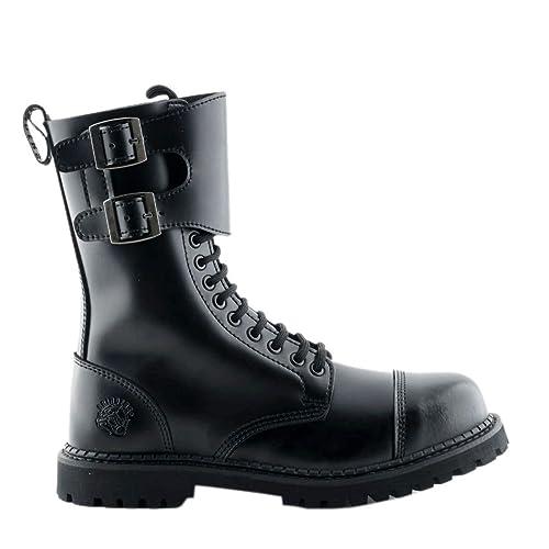 Amoladoras Camelot CS Black 14 Ojalete Hebilla Doble Botas con Punta de Acero de Seguridad Unisex: Amazon.es: Zapatos y complementos