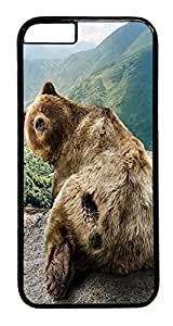 ACESR Bear Print iPhone 6 Hard Case PC - Black, Back Cover Case for Apple iPhone 6(4.7 inch)