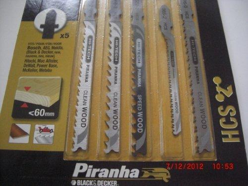 Piranha Jigsaw Mixed Blade T Shank Wood HCS - Set
