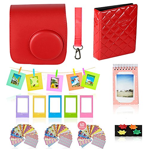 Polaroid Accessories. Polaroid Camera PIC-300 Instant Film Bundle, 9 PC Kit Includes: Polaroid Case + Strap + Photo Album + Standing Album + Wall Hanging Frames + 60 Stickers + 5 Frames, Gift Box. by Shutter