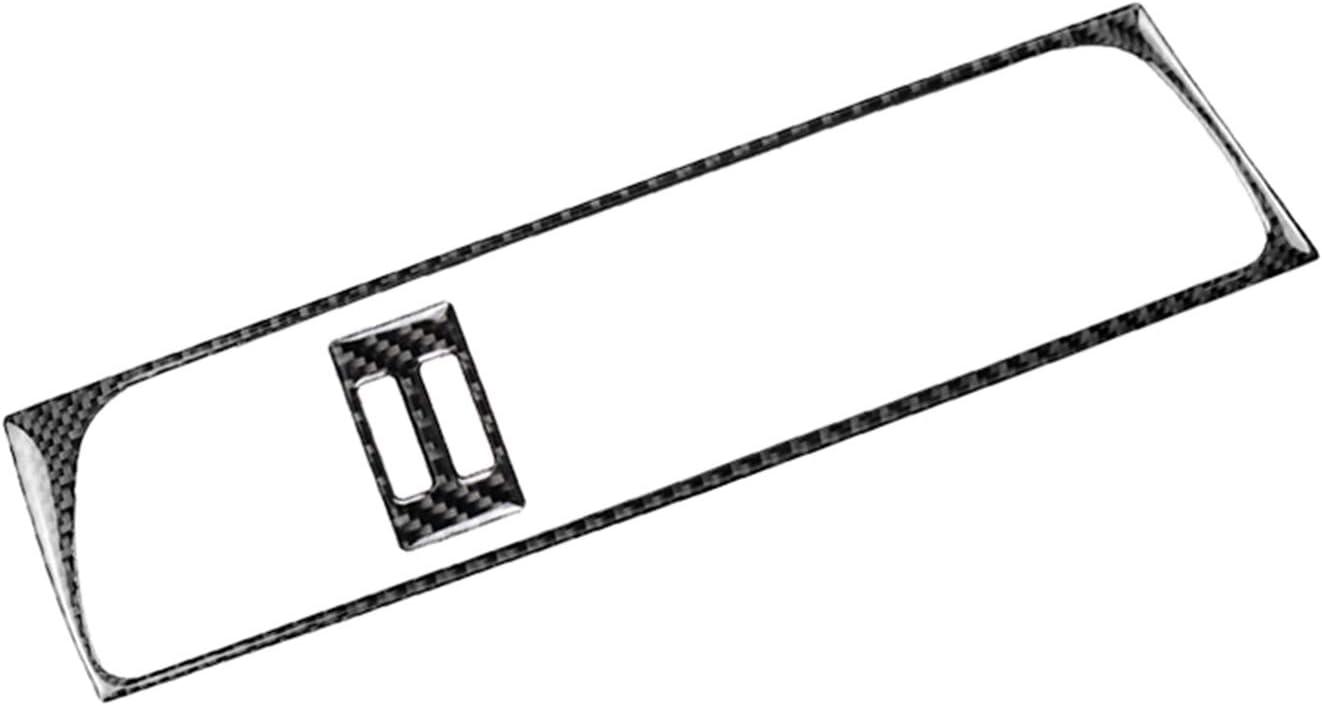 TOOGOO Autocollant Int/érieur De Garniture De Couvercle De Sortie dair De Console De Milieu Int/érieur en Fibre De Carbone V/éritable pour Audi A4 B8 2009-2016 //A5 08-17 //Q5 09-17