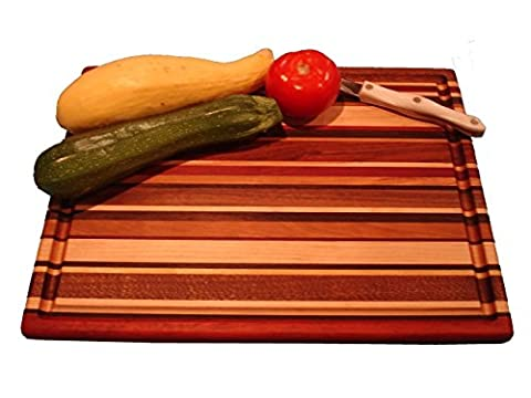 Lucky Stripes Collection Large Cutting Board - Random Hardwoods