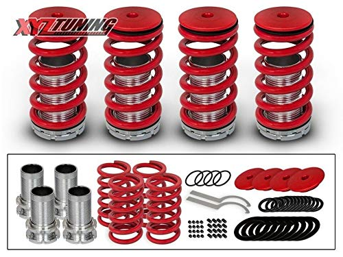 Rtunes Racing Red Adjustable Coilover Coil Springs Lowering Suspenion Kit Compatible for 90-01 Acura Integra 90-02 Honda Accord /& 88-00 Civic /& 93-97 Del Sol /& 88-91 CRX /& 92-01 Prelude