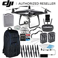 DJI Phantom 4 PRO Obsidian Edition Drone Quadcopter (Black) Essential Pro Backpack Bundle