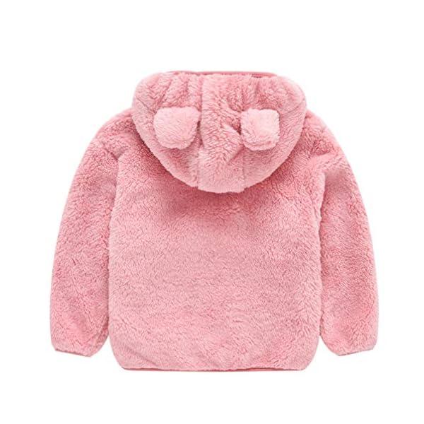 Fenical Cappotto con Cappuccio in Pelliccia Sintetica per Bambini Giacca a Mantello Invernale in Peluche a Forma di Orso… 3