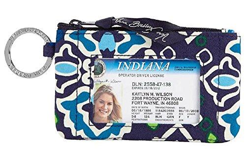 Gorgeous Vera Bradley Zip ID Case in Ink Blue
