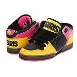 Osiris Women's NYC 83 Mid Skate Shoe,Black/Yellow/Pink,5.5 M US