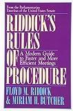 Riddick's Rules by Floyd M. Riddick (1991-04-01)