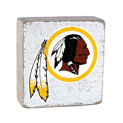 NFL Washington Redskins, White Background Team Logo Block by Rustic Marlin 6