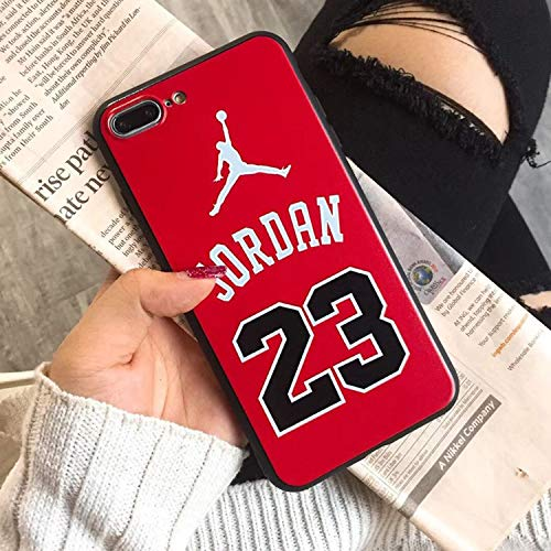 iPhone Xs Max 8 Plus Case, Flyman Jordan 23 Case for iPhone 8 XR X 7 7 Plus 6 6S 6Plus Soft Silicone TPU+ Shock Absorption+ Dirt Resistant iPhone Back Cover (JD 4, iPhone 8 Plus)