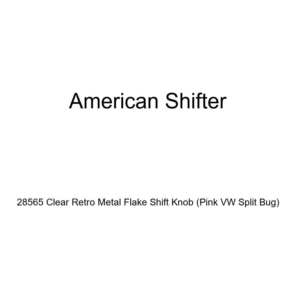 American Shifter 28565 Clear Retro Metal Flake Shift Knob Pink VW Split Bug