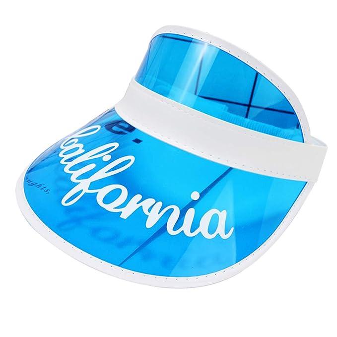 Retro Schildkappe PVC Kunststoff Sonnenschutz Strandhut Clip-on-Stil 80s Poker Schildm/ütze Lifet Visor Cap