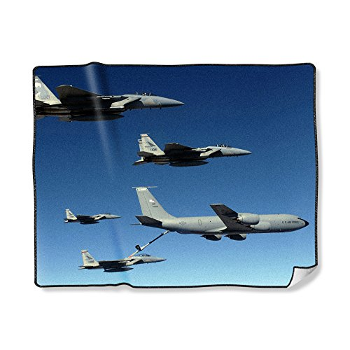 (Custom Throw Blanket Printing USAF Air Force KC-135 Stratotanker Picture, 50X60 Inch)
