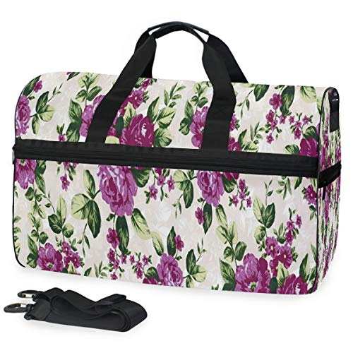 Gym Bag Floral Pattern New Duffle Bag Large Sport Casual Fashion Bag for Men Women