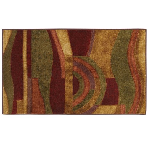 Mohawk Home New Wave Picasso Wine Abstract Printed Area Rug, 1'8x2'10, Multicolor