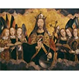 Perfect effect Canvas ,the Reproductions Art Decorative Prints on Canvas of oil painting 'Hans Memling - Christ with Singing and Music-Making Angels, Middle Panel,1480s', 8x10 inch / 20x26 cm is best for Basement decoration and Home gallery art and Gifts