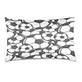 ALAZA Sport Ball Soccer Football Cotton Lint Pillow Case,Double-sided Printing Home Decor Pillowcase Size 16''x24'',for Bedroom Women Girl Boy