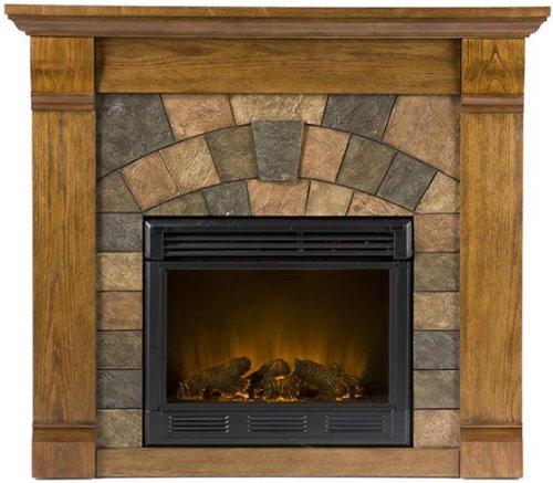 Antique Oak Electric Fireplace (Williams Electric Fireplace, ELECTRIC, ANTIQUE)