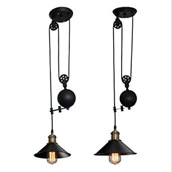 Black pulley chandelier retro wrought iron restaurant lift black pulley chandelier retro wrought iron restaurant lift chandelier e27 bar bedroom industrial wind pendant lamp aloadofball Images