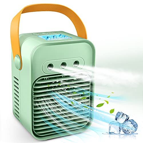 Portable Air Conditioner, Evaporative Air Cooler Fan with 3 Wind Speeds and 3 Sprays, Camping AC Unit, Small Portable…