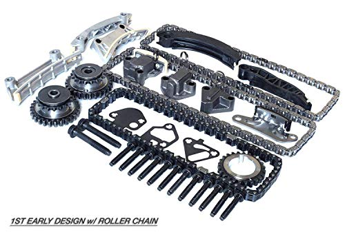 (Timing Chain Kit For 04-07 Buick Cadillac CTS SRX STS Saab Suzuki 3.6 3.6L DOHC 24V (For 1st Early Design ONLY) Roller Chain 78 Links Primary Chain / 92 Links Secondary Chain (IF-90753SE))