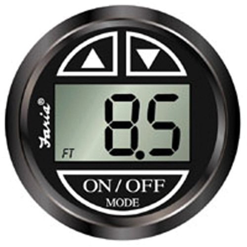 Faria 13751 Chesapeake Black Depth Sounder with In-Hull Transducer