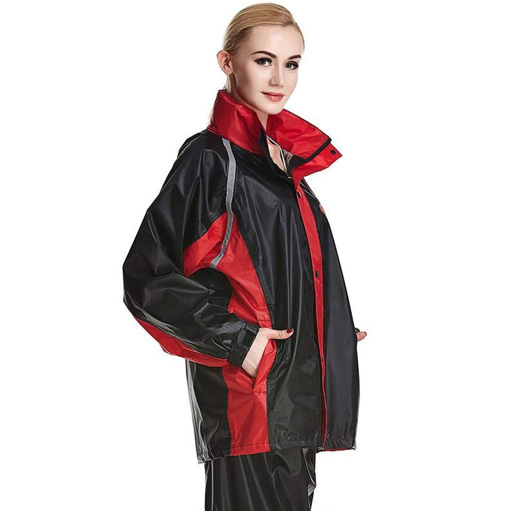 Draußen Regenmantel Erwachsene Verdicken Regenbekleidung Herren Windjacke Warme wasserdichte Damen Regenjacke Hosenanzug für Reisen Gehen Ski Golf