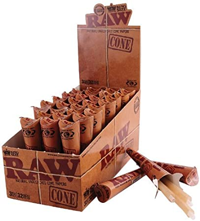 Amazon.com: Case of Raw King Size Cones! 32 Packs of 3 Pack Cones ...