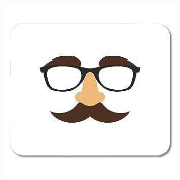 Almohadillas para mouse Moustache Negro Gafas falsas Máscara ...