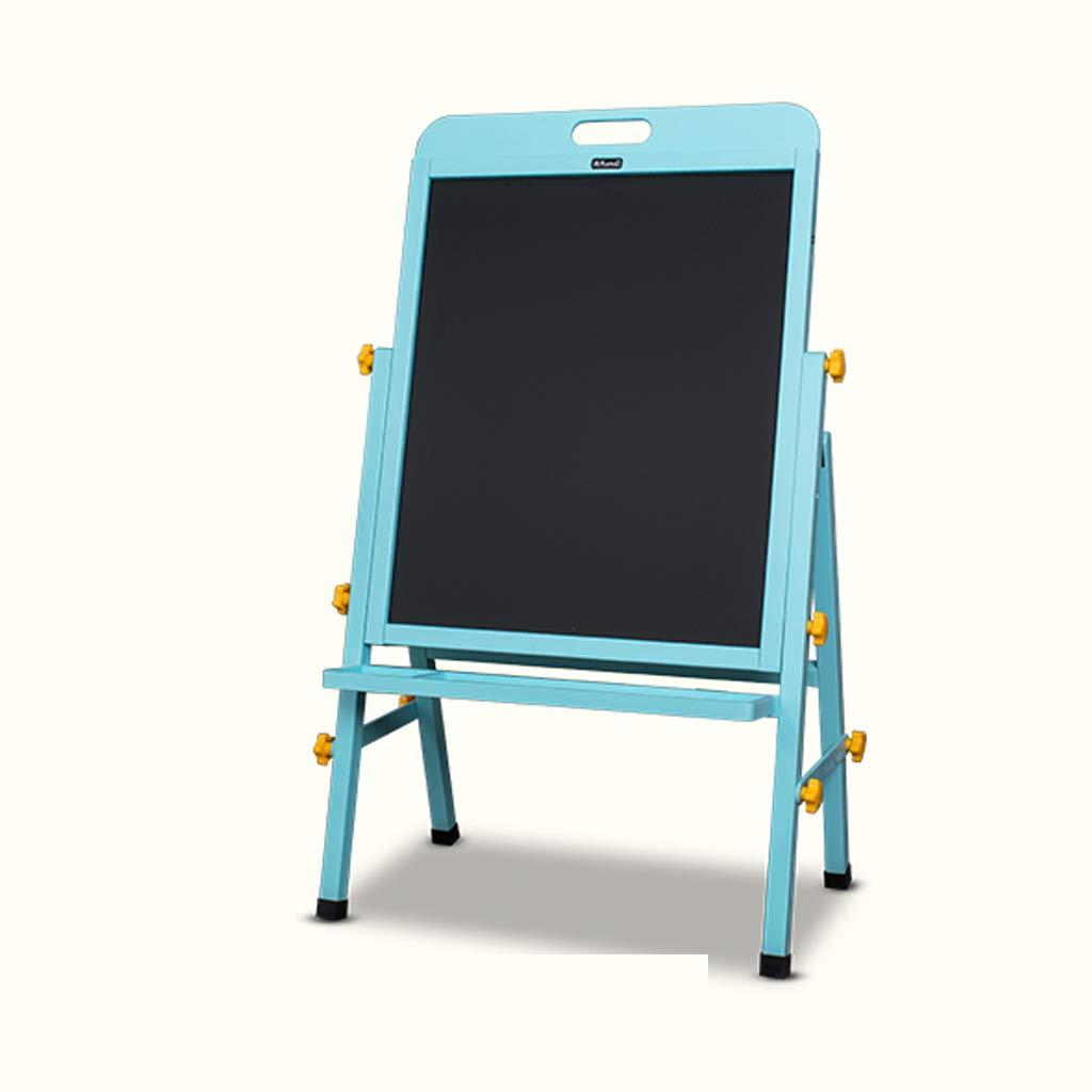 JSFQ 312歳までのお子様に適したソリッドウッドのリフト式イーゼル、両面黒板、57 * 100(120)cm、オプションで2色 イーゼル (色 : 青)  青 B07QJVCBVR