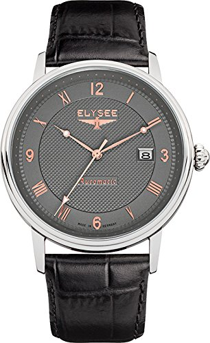 ELYSEE Men's 77006 Executive-Edition Analog Display Automatic Self Wind Black Watch