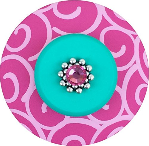 Bright Aqua Green and Hot Pink SWIRLS Hand Painted Decorative Knobs Dresser Knobs Cabinet Knobs Drawer Pull Drawer Knobs Kids Knobs Nursery Knobs Colorful (Painted Swirl Cabinet)