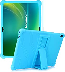 """HminSen Case for Lenovo Smart Tab P10 / M10 / M10 HD 10.1 Case, Shockproof Silicone Stand Cover for Lenovo Tab P10 TB-X705F TB-X705L / M10 HD TB-X505F TB-X505L / M10 TB-X605F 10.1"""" Tablet,(Light Blue)"""