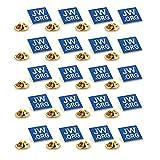 TANG SONG 20PCS JW.ORG Square Gold Lapel Pin