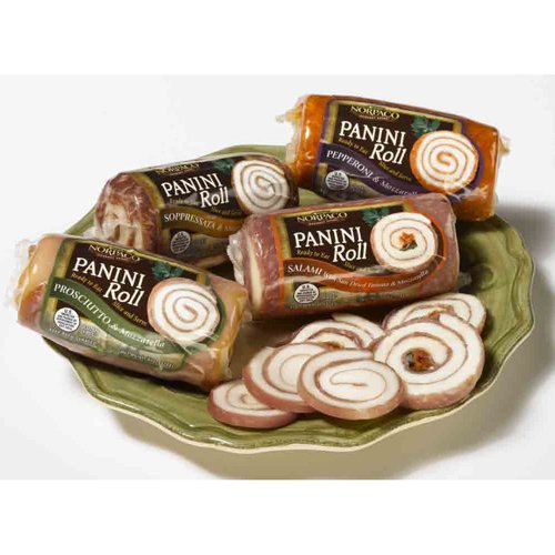 Panini Roll stuffed with Sun-Dried Tomato, Basil & Mozzarella - 6 Oz (Pack of 12) by Norpaco