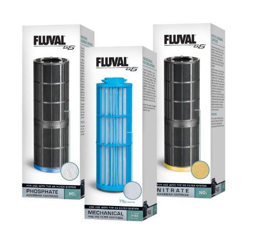 Fluval G6 3-Pack Aquarium Cartridges Filter - Filter Cartridge Change Quick