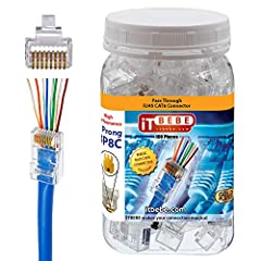 ✅ Max Insulated wire OD: 1.1mm   ✅ Custom ethernet cables made easy   Purchasing ethernet cables can be expensive and pre-made lengths are not always suitable for your needs. ITBEBE connector 100-piece Gold Plated ITBEBE RJ45 Pass Through Pl...