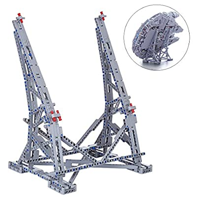 FenglinTech Vertical Stand for Lego Star Wars Ultimate Millennium Falcon 75192 Building Kit (Lego Set Not Included, 3rd Party Lego Accessory): Toys & Games
