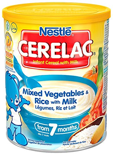 Nestle Cerelac Mixed Vegetables and Rise with Milk, 400g DIMBL