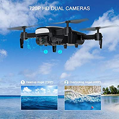 Drone with 720P HD Camera, WiFi Live Video RC Quadcopter, 2.4 Ghz 6-Axis Gyro FPV Helicopter, Altitude Hold, One Key Return Home, Long Flight Time Beginner Drone, Easy to Fly for Boys or Girls