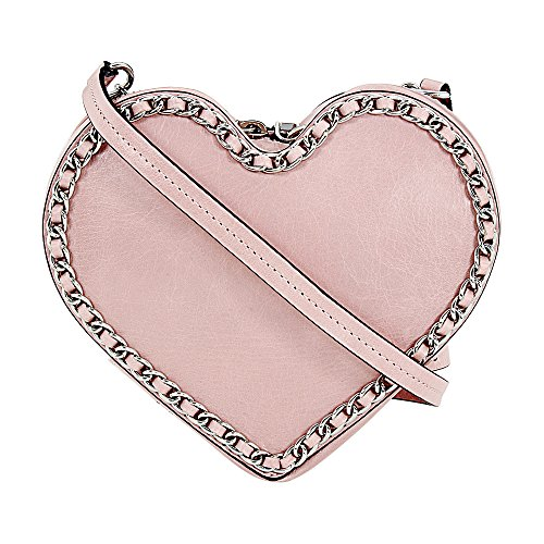 Rebecca Minkoff Women's Chain Heart Crossbody Lilac Rose Crossbody Bag by Rebecca Minkoff (Image #1)