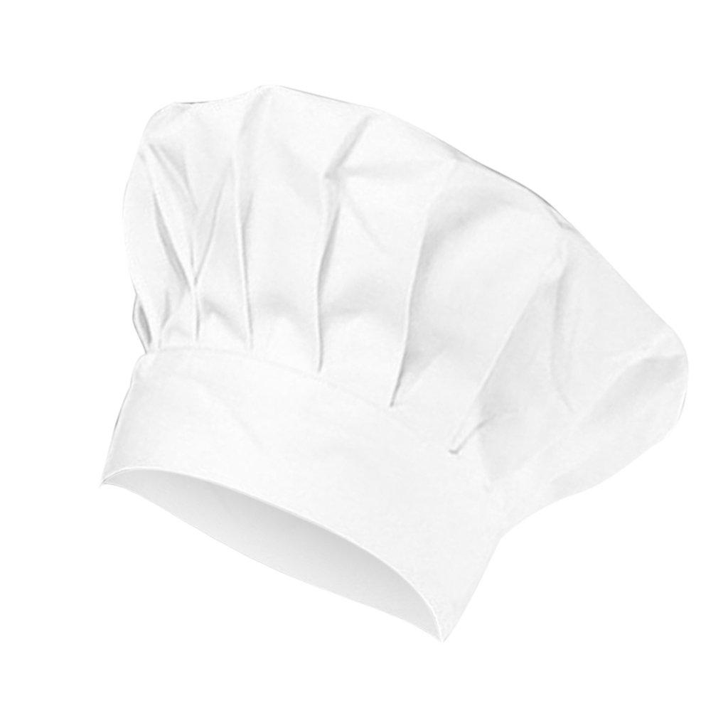 Sharplace Uomo Donna Elastico Cappello Protezione Cappellini Uniforme da Cuoco Chef Cucina Ristorazione Hat da Lavoro Taglia unica