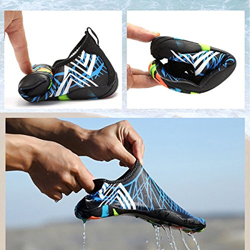 Size UK Swimming Lake Diving Breathable Sports White Pool Swim Aerobics Kayaking 3 Ladies Drainage Shoes Beach Shoes Surfing Lightweight Shoes Mens Womens with for Beach Holes Water qFTwSaR