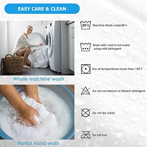 """King Size Premium Waterproof Mattress Protector, Breathable Cotton Terry Surface Mattress Cover, Deep Pocket Stretch to 16"""" Noiseless Bed Cover"""