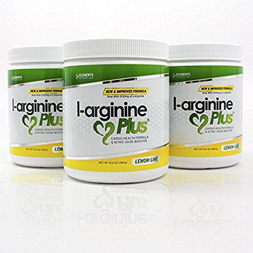 L-Arginine Plus Official Formula 3-Pack Lemon Lime L-arginine Supplement BUY 3 AND SAVE – Blood Pressure, Cholesterol and More Energy Heart Health Supplement (3) (13.4 oz each)